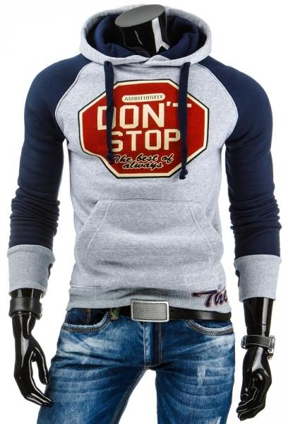 Vyriškas džemperis Stop (Pilkas/Tamsiai mėlynas) Paveikslėlis 1 iš 6 310820030975
