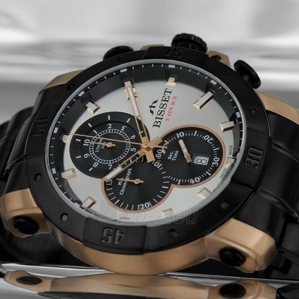 Vyriškas laikrodis BISSET Argentum BSDD90TISB05AX Paveikslėlis 3 iš 3 30069610806
