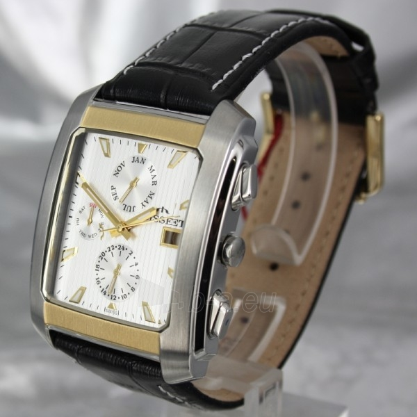 Vyriškas laikrodis BISSET BURION BSCD14 MTT WH BK Paveikslėlis 1 iš 7 310820008981