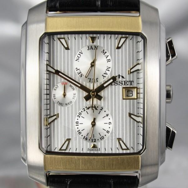Vyriškas laikrodis BISSET BURION BSCD14 MTT WH BK Paveikslėlis 4 iš 7 310820008981