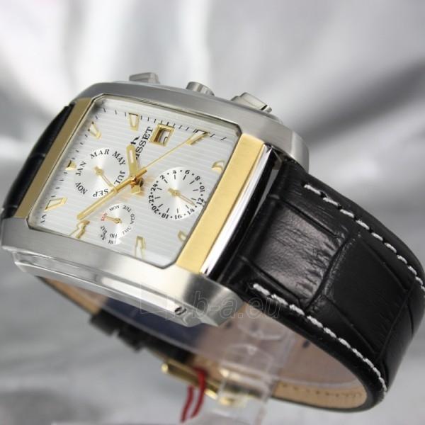 Vyriškas laikrodis BISSET BURION BSCD14 MTT WH BK Paveikslėlis 5 iš 7 310820008981
