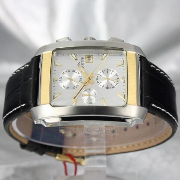 Vyriškas laikrodis BISSET BURION BSCD14 MTT WH BK Paveikslėlis 6 iš 7 310820008981
