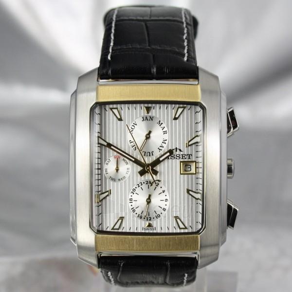 Vyriškas laikrodis BISSET BURION BSCD14 MTT WH BK Paveikslėlis 7 iš 7 310820008981