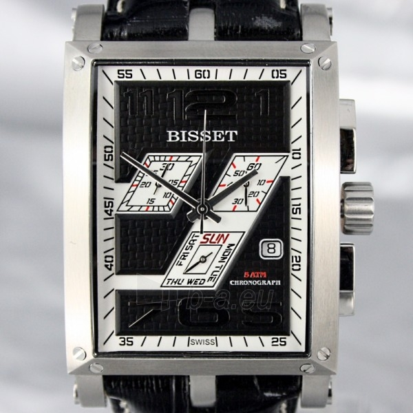 Men's watch BISSET Crossover BSCC92 MS BKWH BK Paveikslėlis 4 iš 8 30069605712