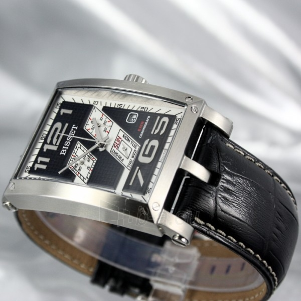 Men's watch BISSET Crossover BSCC92 MS BKWH BK Paveikslėlis 5 iš 8 30069605712