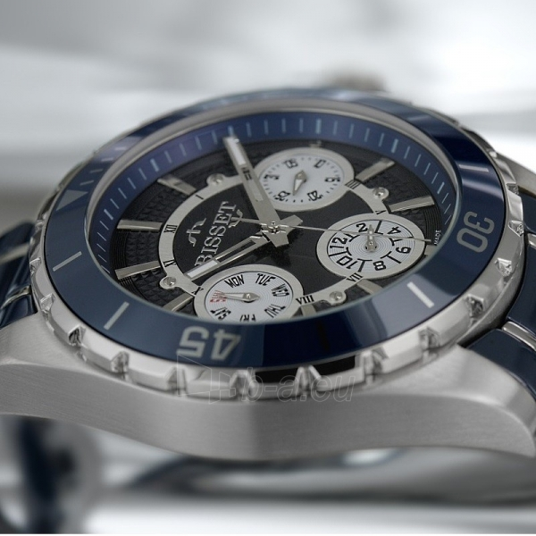 Male laikrodis BISSET Solaris BSFD97SIDW10BX Paveikslėlis 3 iš 3 30069610813