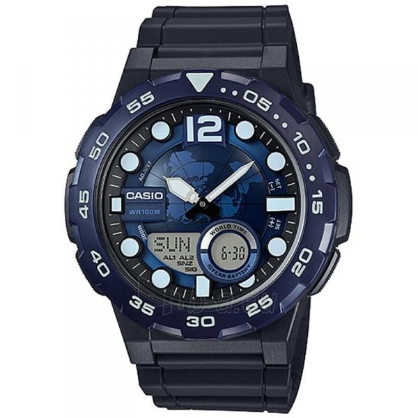 Male laikrodis Casio AEQ-100W-2AVDF Paveikslėlis 1 iš 1 310820009034