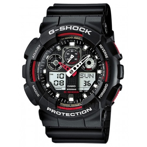 Male laikrodis Male Casio laikrodis GA-100-1A4ER Paveikslėlis 1 iš 1 30069609683