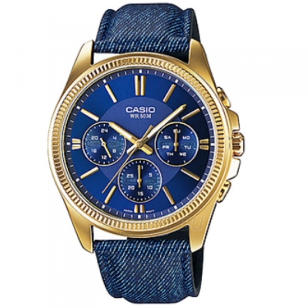 Male laikrodis CASIO MTP-E304GBL-2AVEF Paveikslėlis 1 iš 2 30069607445