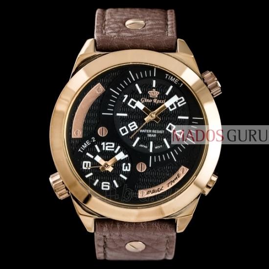 Vyriškas laikrodis Gino Rossi Dual Time GR1619RJ Paveikslėlis 1 iš 3 30069604797