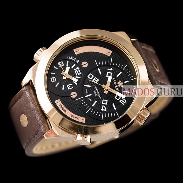Vyriškas laikrodis Gino Rossi Dual Time GR1619RJ Paveikslėlis 2 iš 3 30069604797