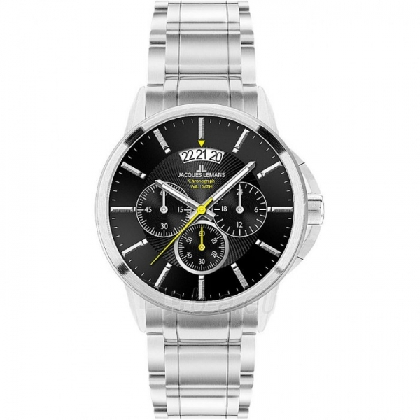 Vīriešu pulkstenis JACQUES LEMANS  1-1542D Paveikslėlis 1 iš 1 30069609854