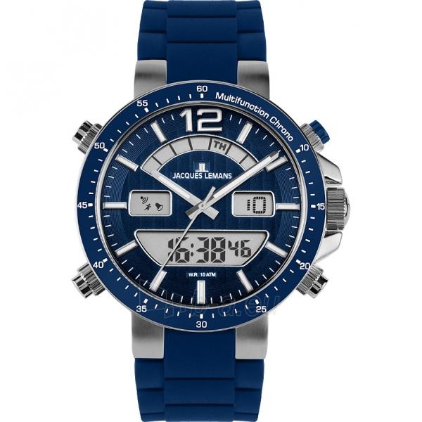 Vyriškas laikrodis JACQUES LEMANS laikrodis 1-1712C Paveikslėlis 1 iš 2 30069610844