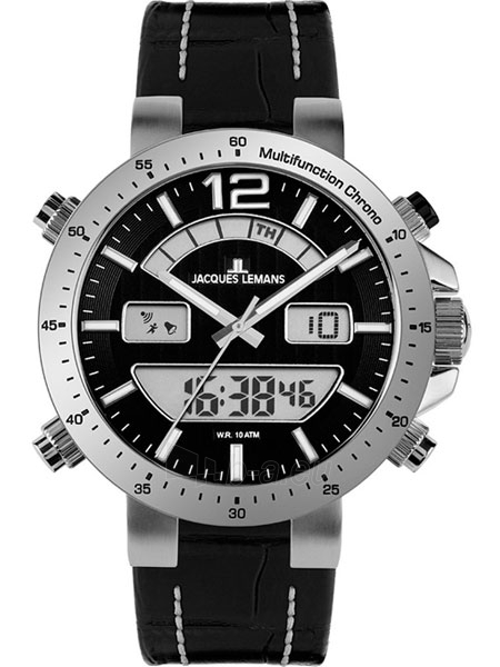 Male laikrodis JACQUES LEMANS laikrodis 1-1713A Paveikslėlis 1 iš 2 30069610846