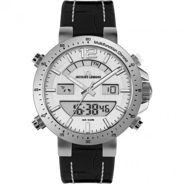 Vyriškas laikrodis JACQUES LEMANS laikrodis 1-1713B Paveikslėlis 1 iš 2 30069610847