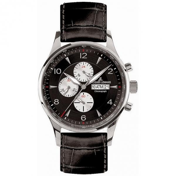 Vīriešu pulkstenis JACQUES LEMANS pulkstenis 1-1844A Paveikslėlis 1 iš 1 30069610858