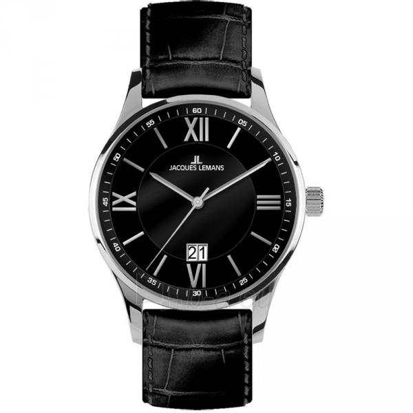 Vīriešu pulkstenis JACQUES LEMANS pulkstenis 1-1845A Paveikslėlis 1 iš 1 30069610859