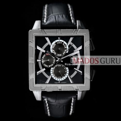 Vyriškas laikrodis Kvadratinis RUBICON RNDC24JS Paveikslėlis 1 iš 1 30069600117