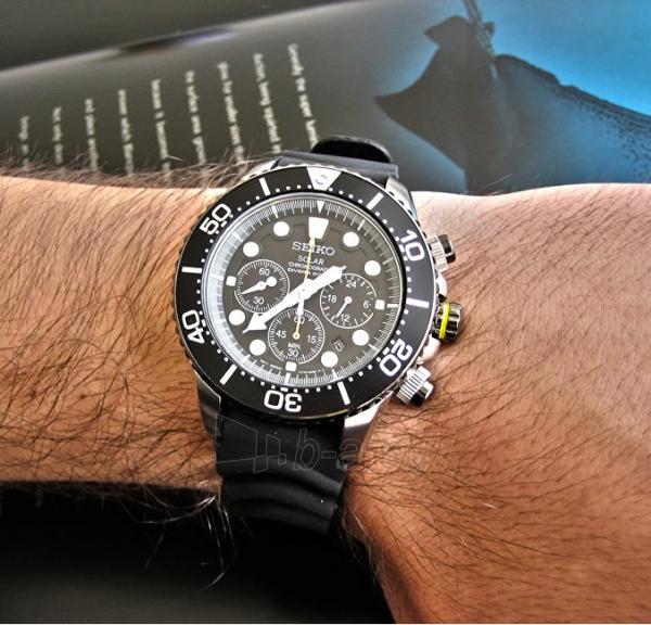 Vyriškas laikrodis Seiko Solar SSC021P1 Paveikslėlis 2 iš 4 310820110909