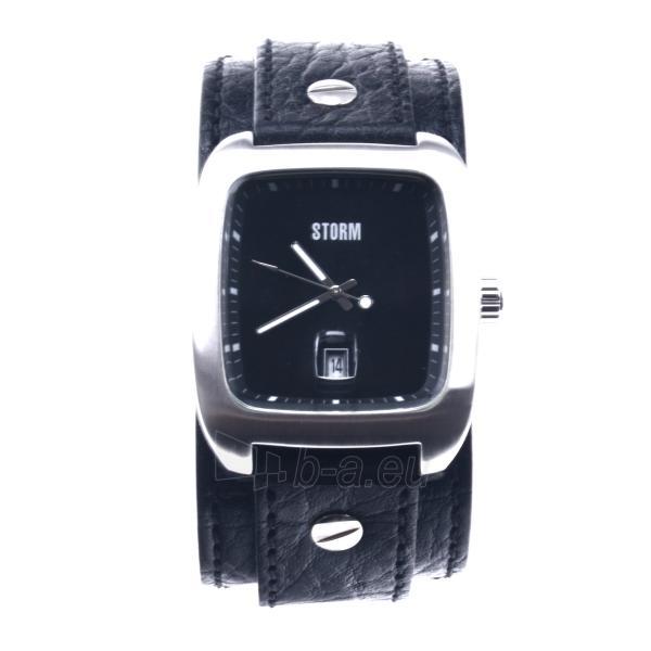 Male laikrodis STORM PIRELLO BLACK BLACK LEATHER Paveikslėlis 1 iš 7 30069609364