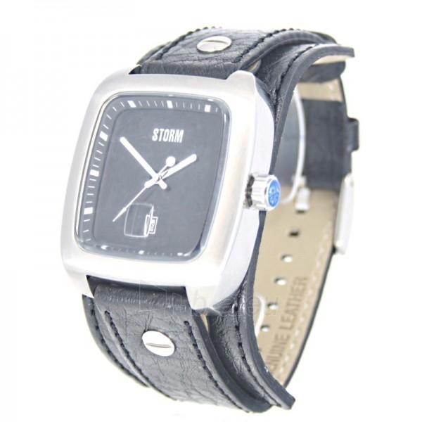 Male laikrodis STORM PIRELLO BLACK BLACK LEATHER Paveikslėlis 2 iš 7 30069609364
