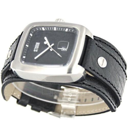 Male laikrodis STORM PIRELLO BLACK BLACK LEATHER Paveikslėlis 5 iš 7 30069609364