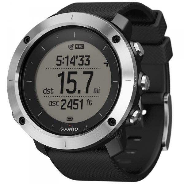 Male laikrodis SUUNTO TRAVERSE BLACK (black case/black silicone strap) Paveikslėlis 1 iš 2 310820010641
