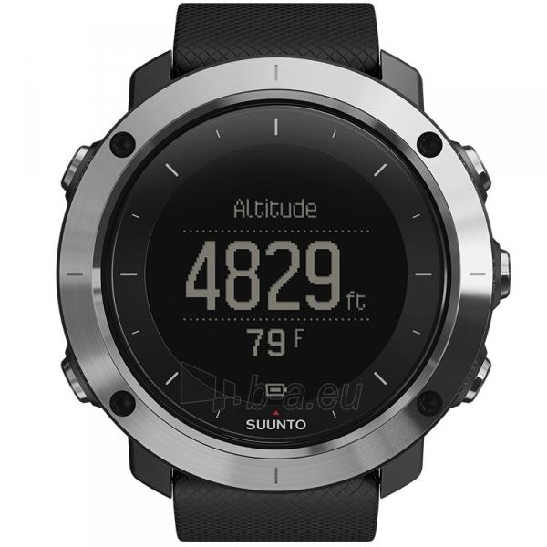 Male laikrodis SUUNTO TRAVERSE BLACK (black case/black silicone strap) Paveikslėlis 2 iš 2 310820010641