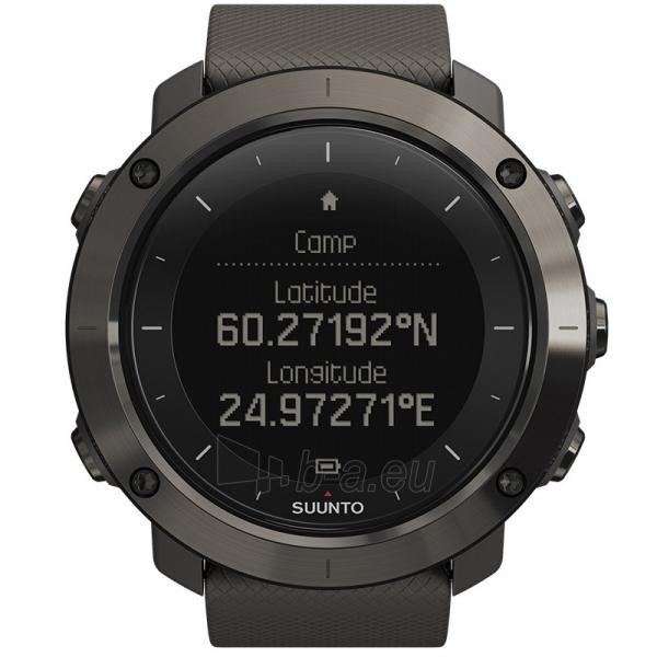 Vīriešu pulkstenis SUUNTO TRAVERSE GRAPHITE (gray case/graphite silicone strap) Paveikslėlis 1 iš 2 310820010643