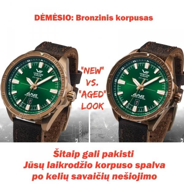 Vīriešu pulkstenis Vostok Europe Almaz NH35A-320O265 Bronzinis korpusas Paveikslėlis 4 iš 5 310820010603