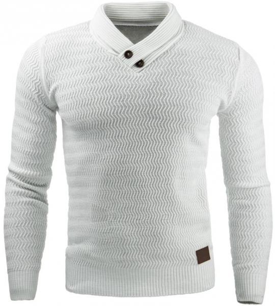 Vyriškas megztinis Benson (Baltas) Paveikslėlis 1 iš 7 310820031572