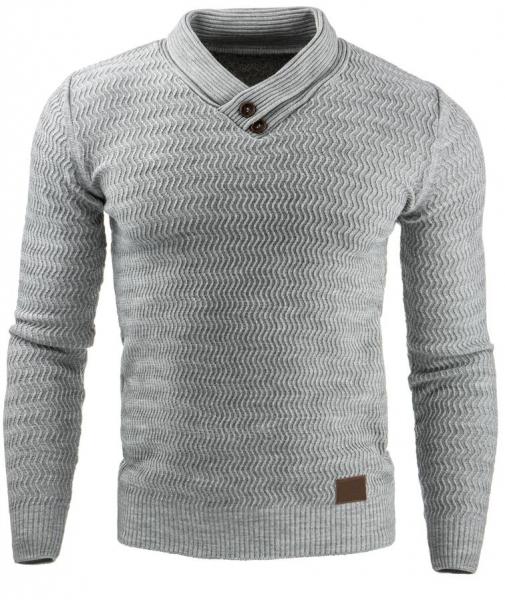 Vyriškas megztinis Benson (Pilkas) Paveikslėlis 1 iš 7 310820031573