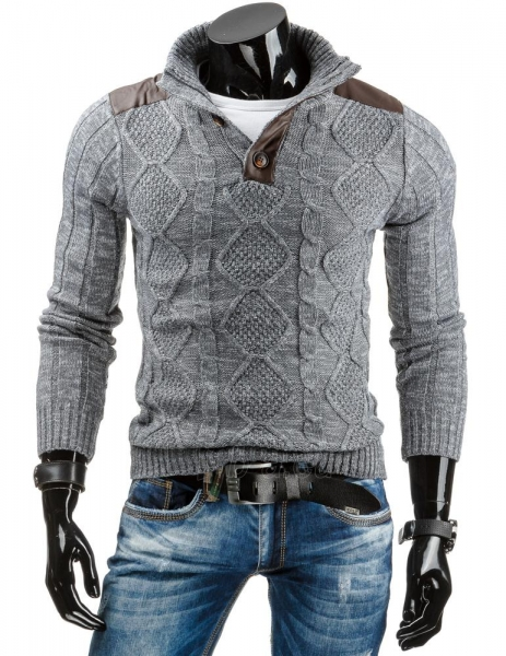 Vyriškas megztinis Carthage (Pilkas) Paveikslėlis 1 iš 6 310820031730