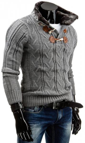 Vyriškas megztinis Garry (Pilkas) Paveikslėlis 1 iš 6 310820031323