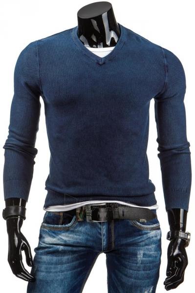 Vyriškas megztinis Gavin (Tamsiai mėlynas) Paveikslėlis 1 iš 7 310820031366
