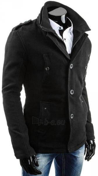 Vyriškas paltas Alan (Juodas) Paveikslėlis 1 iš 6 310820043549