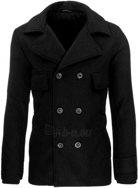 Vyriškas paltas Geno (juodas) Paveikslėlis 1 iš 7 310820045446