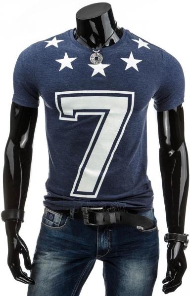 Vyriški marškinėliai 7 (Tamsiai mėlyni) Paveikslėlis 1 iš 4 310820031166