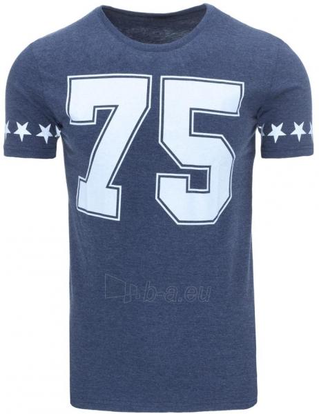 Vyriški marškinėliai 75 (Tamsiai mėlyni) Paveikslėlis 1 iš 5 310820031163