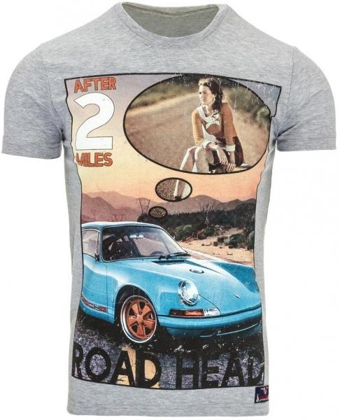Vyriški marškinėliai AFTER2MILES (Pilki) Paveikslėlis 1 iš 5 310820031153