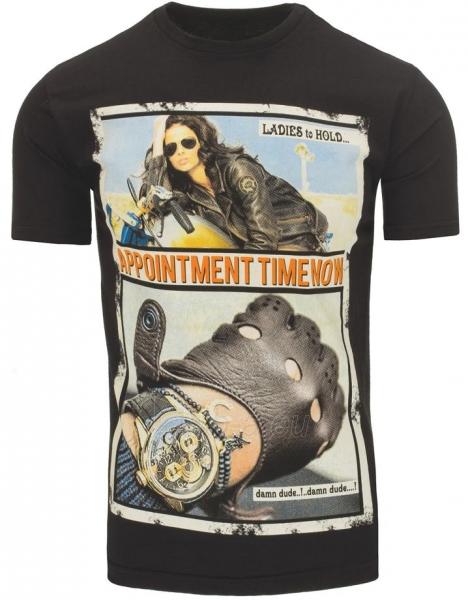 Vyriški marškinėliai Appointment (Juodi) Paveikslėlis 1 iš 5 310820031108