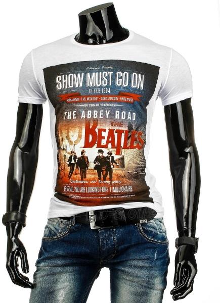 Vyriški marškinėliai Beatles (Balti) Paveikslėlis 1 iš 4 310820031084
