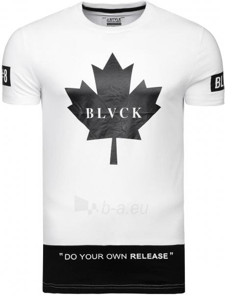 Vyriški marškinėliai BLCVK (balti) Paveikslėlis 1 iš 6 310820033079