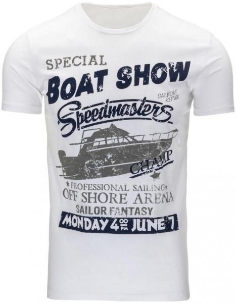 Vyriški marškinėliai BOATSHOW (Balti) Paveikslėlis 1 iš 5 310820031182