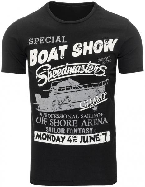 Vyriški marškinėliai BOATSHOW (Juodi) Paveikslėlis 1 iš 5 310820031183