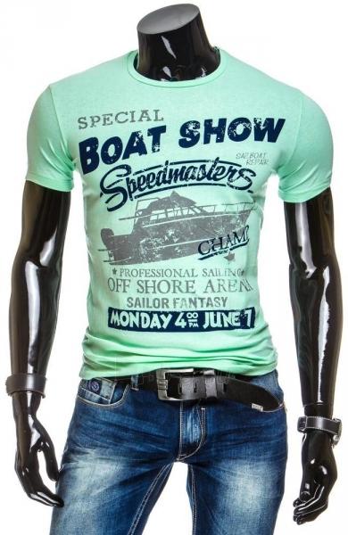 Vyriški marškinėliai BOATSHOW (Žali) Paveikslėlis 1 iš 4 310820031184