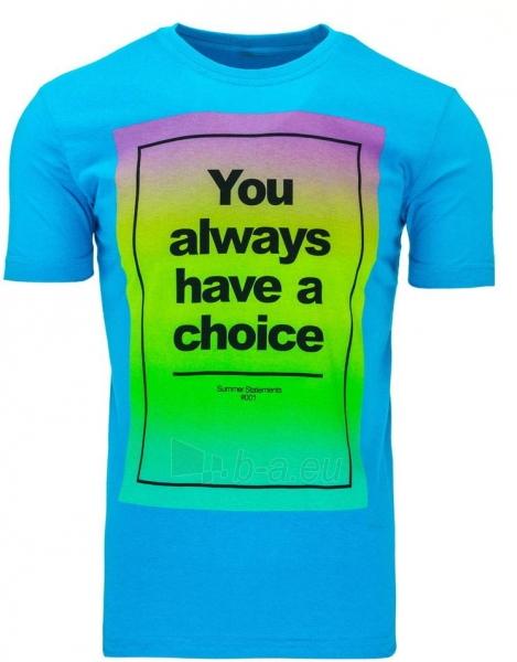 Vyriški marškinėliai Choise (Mėlyni) Paveikslėlis 1 iš 5 310820031124