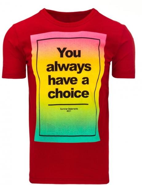 Vyriški marškinėliai Choise (Raudoni) Paveikslėlis 1 iš 5 310820031123