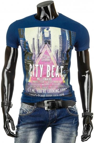 Vyriški marškinėliai City Beat (Tamsiai mėlyni) Paveikslėlis 1 iš 4 310820034814