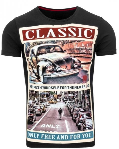 Vyriški marškinėliai Classic (Juodi) Paveikslėlis 1 iš 5 310820031079
